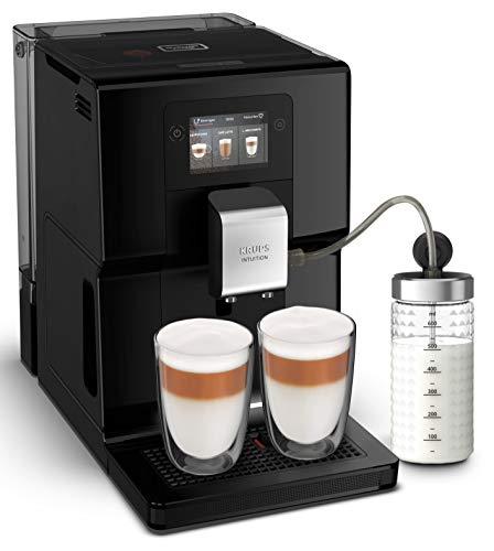 Krups Intuition Preference Machine à café à grain, Machine à café, Broyeur grain, Cafetière expresso, Cappuccino, Espresso, Ecran tactile couleur, 11 recettes préenregistrées EA873810