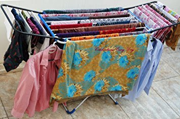 CELEBRATIONS Steel Cloth Drying Stand - Double Wings Cloth Dryer Stand for Drying All Kinds of Attires
