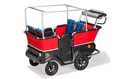 Unbekannt E-Turtle Kinderbus Basic für 4 Kinder von Winther (E-Turtle Bus / E-Turtlebus / E-Kinderwagen) / mit Elektromotor!