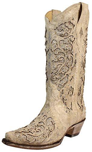 [Corral Boots] レディース A3322 US サイズ: 9 カラー: ベージュ