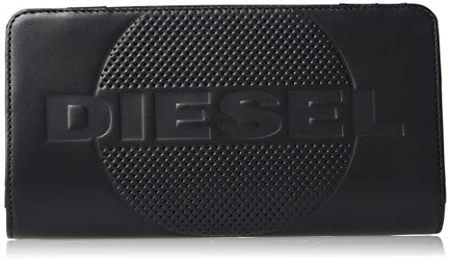 Diesel Men#039s EMBOGO V24 ZipWallet Black UNI