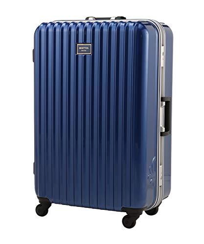 [ユナイテッドカラーズオブ ベネトン] バッグ 静走ラインキャリーケース・スーツケース(L)容量約80L 静音 レディース ブルー FREE