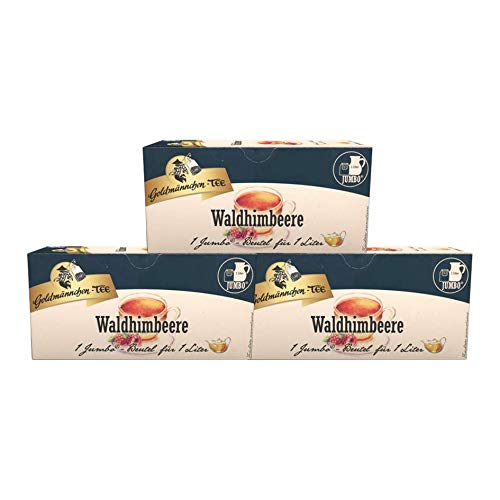 Goldmännchen-Tee Jumbo Waldhimbeere, 3er Pack
