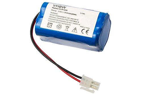 vhbw Akku passend für Ecovacs Deebot CEN546, CEN550, CEN640, CR130, M82 Staubsauger Home Cleaner Heimroboter (2600mAh, 14.8V, Li-Ion)