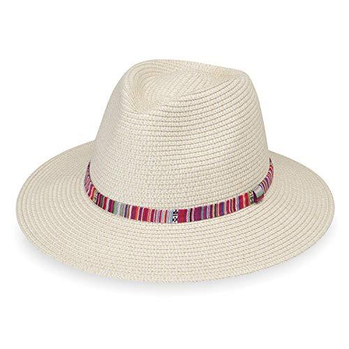 Wallaroo Hat Company Women's Sedona Fedora – Natural – UPF 50+, Aztec Flair