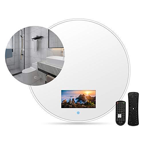 Smart Touch Bagno Elegante bagno IP66 Impermeabile Cornice dorata Mini TV LED HD Ready, supporto Internet, on-demand online, trasmissione dal vivo, può giocare, con WIFI, supporto Bluetooth,60*60cm