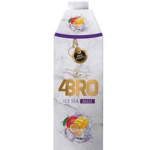 4Bro - Ice Tea Mago-Maracuja 1000ml | der Eistee für Gamer. Shisha und Eis Tee Liebhaber