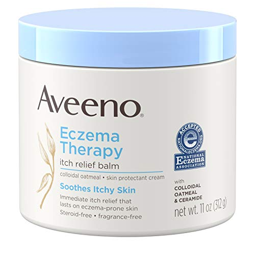 Aveeno Eczema Therapy Itch Relief Balm with Colloidal Oatmeal amp Ceramide for Dry Itchy Skin NonGreasy Steroid Fragrance amp ParabenFree Moisturizing Skin Protectant Cream 11 oz