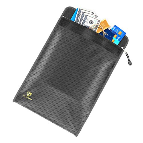"""DocuArmor Fireproof Waterproof Document Bag - Safe Fire Money Bag - Perfect for Safe, Money Box, Travel, and Document Holder - 11"""" x 15"""" - Fire Rated 2192°F - Zipper & Velcro Sealed"""