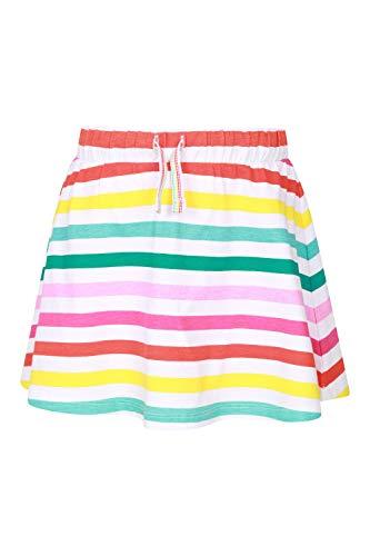 Mountain Warehouse Seaside Mädchen-Rock - Leichter, kurzer Kinder-Sommerrock, integrierte Unterhose, Kordelzug und elastischer Taille - für Urlaub, Pool, Strand Rainbow 7-8 Jahre