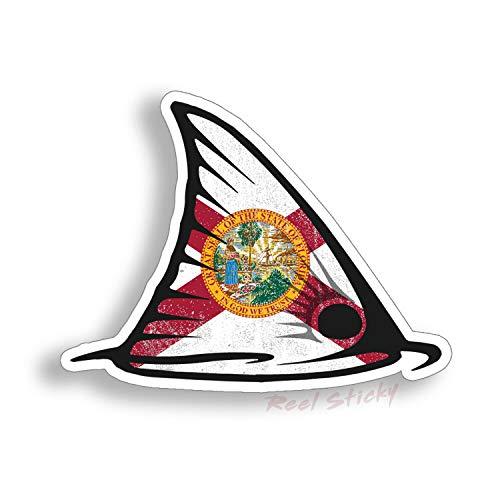 Kerri-007 2 pegatinas de aleta de pez rojo con diseño de pez rojo, barco de pesca, coche, vehículo gráfico de vinilo impermeable (nombre del color: estilo A, tamaño: 13 cm)