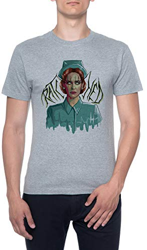 De Miedo enfermero Gris Hombre Camiseta Mangas Cortas Tamao S Mens T-Shirt Grey Size S