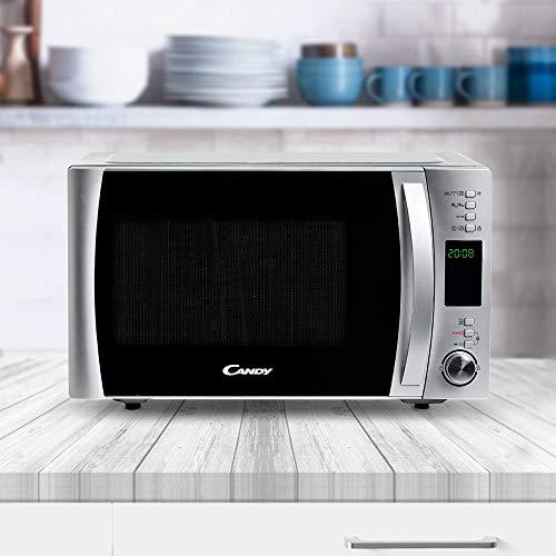 Candy cmxg 30DS Forno microonde con grill e app Cook-in, 30 litri, 900 W, Grill, Argento