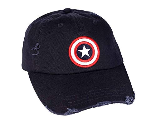 Captain america Baseball Cap - Grunge Dunkelblau