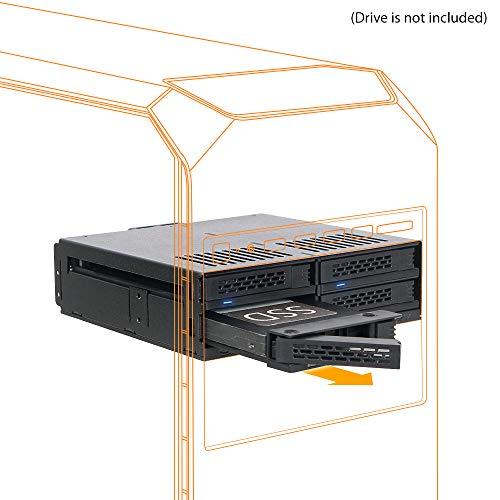 Icy Dock ExpressCage MB324SP-B - Rack extraíble 4 x 2.5 SATA 6Gbps/SAS por HDD/SSD en una bahía 5.25