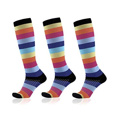 Compression Stockings (3 Pairs),20-30Mm Est Le Meilleur Athlète Et Médecin Diplômé Pour Hommes Et Femmes,Courir,Voler,Bas de Voyage L/Xl (50-52)
