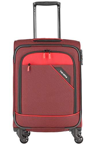 """Travelite Rollkoffer """"Derby"""": klassisch, robuster und leichter Weichgepäck Trolley mit 4 Rollen in 4 Farben Koffer, 55 cm, 41 Liter, Rot"""