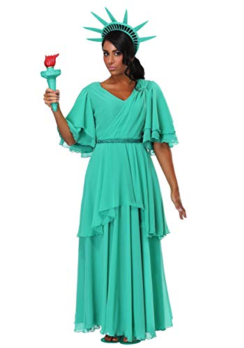 Women's Statue of Liberty Costume Medium Green