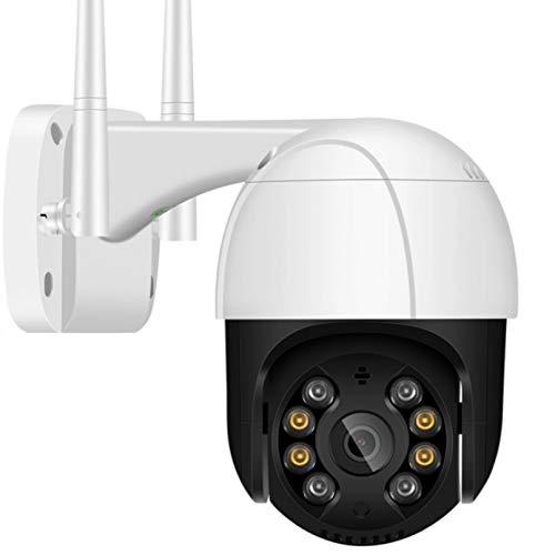 WSZOK Cámara al aire libre 1080P Wifi Inalámbrica Impermeable Resistente a la intemperie Cámara de Seguridad HD Ai Detectar Humano Cámara 128G