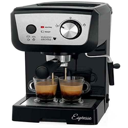 Suinga Cafetera para espresso y cappuccino. Bomba de alta presión 20 bar. Permite...