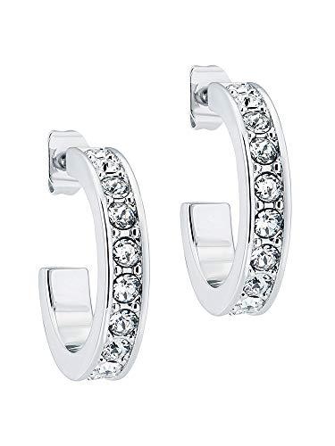 Ted Baker Seanna Small Crystal Hoop Earrings Silver Tone/Crystal
