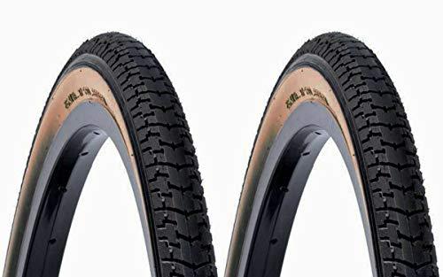 ONOGAL 2X Cubierta DSI Clasica de Color Negro Crema 700 28 38B 1 1/2 40 635 Bicicleta 6314
