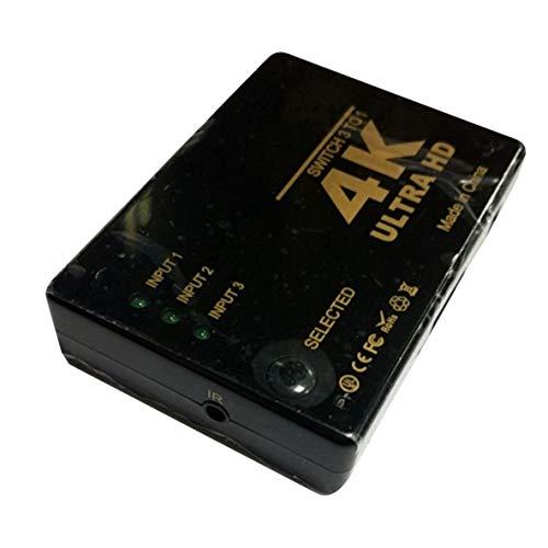 ACEHE Conmutador 4K * 2K 1080P Selector de conmutador Compatible con HDMI Caja divisoria 3x1 Ultra Alta definición para HDTV Xbox PS3 PS4 Multimedia