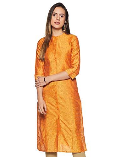 Amazon Brand – Tavasya Women's Polyester Slim Kurti