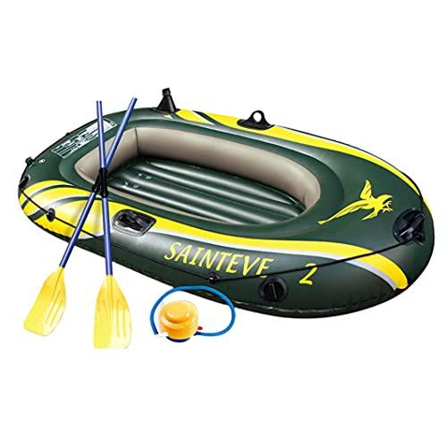 SETSCZY Bote Inflable Kayak Hinchable Doble Barco De Deriva De PVC Barco De Pesca Barco De Kayak Barco Inflable, Juego De Kayak Inflable, Barco De Pesca Engrosado Resistente Al Desgarro