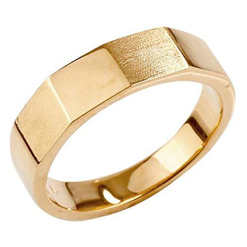 [アトラス] Atrus リング メンズ 10金 ピンクゴールドk10 地金 ストレート つや消し カットリング 指輪 5号