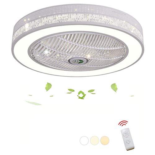 Tatane led-plafondventilator, plafondlamp, creatief licht, dimbaar, plafondventilator, met afstandsbediening, stil, ventilator aan het plafond, voor slaapkamer, woonkamer