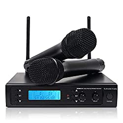 powerful Soundtown Professional 200 Channel UHF Wireless Microphone System and Two Portable Microphones …