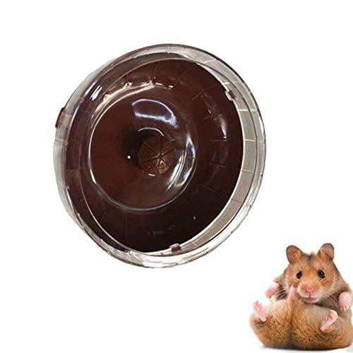 Riesenhamster Ball Hamsterrad Zwerghamster Rad Hamster stille Hamsterrad in Einer Kugel Spielzeug große Hamster Ball Holz Hamsterrad rosa zcaqtajro (Color : Coffee)