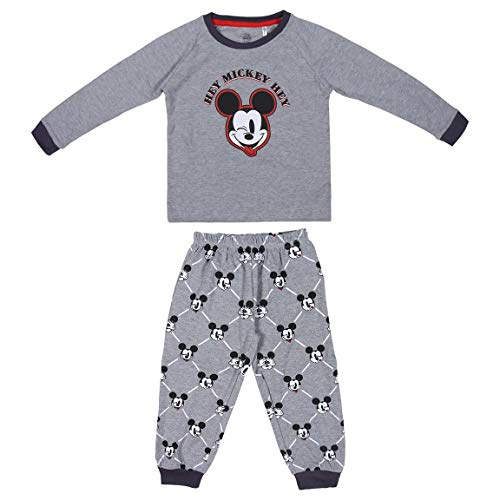 Artesania Cerda Largo Mickey Conjuntos de pijama, Gris (Gris C13), 6 Años para Niños
