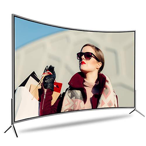 GXFCH SHOP Smart WiFi Network LCD TV, TV Curvo TV Control Voz Remoto 50 Pulgadas, Pantalla A Prueba Explosiones, Protección Los Ojos + Pantalla De Proyección