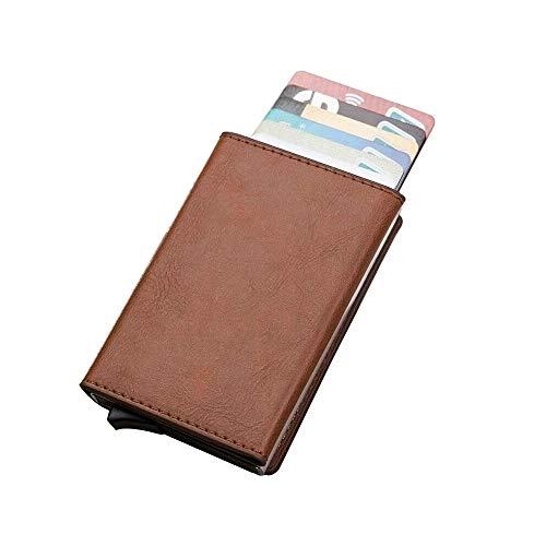 Hanks' Shop Karten-Paket charismatisches Beutel-Multifunktionsaluminium Automatonlike Pop-up-Kreditkarte-Paket (Schwarz) (Color : Brown)