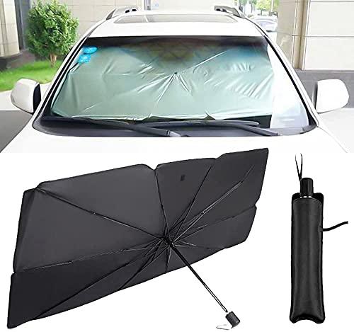 Parasol para Parabrisas de Coche Parasol de protección solar para coche, visera para ventana de coche, accesorios interiores UV, compatibles con Logo 206207307301308408 3008508 Parasol Delantero Coch