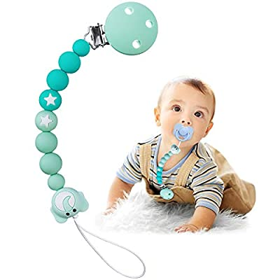 Amazon - Save 50%: Pacifier Clip TYRY.HU Silicone Teether Binky Holder for Baby Boys and…