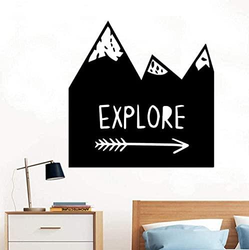 TJVXN Etiqueta de la Pared Discovery Mountain removible Arte Vinilo Pared Pegatina decoración del hogar Sala de Estar Dormitorio calcomanía Pegatina Creativa 43X43cm
