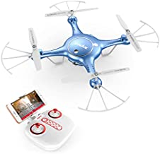 Syma Camera Drone Headless Helicopter Quadcopter Kids Toys Blue