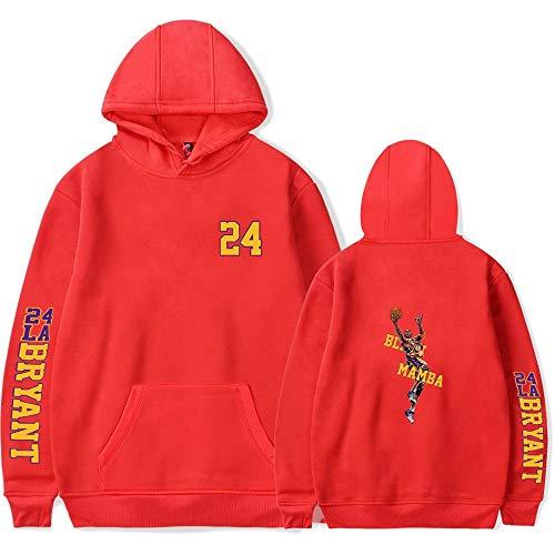 LVTIAN Kobe Bryant - Sudadera con capucha, unisex, para baloncesto, rojo, medium