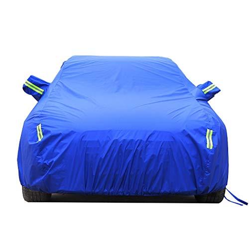 ZBM-ZBM Compatibel met Renault Megane Volledig Waterdichte Auto Cover - Ademend - Zware Regendichte Outdoor Auto Cover Zonnescherm Isolatie Vier Seizoenen Universele Auto accessoires Blauw