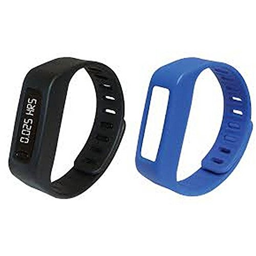 NAXA NSW-11 Lifeforce+ Fitness Watch, Black/Blue, OLED Screen with Time Display, Step Counter and Calorie Tracking Helps you Improve your Health with Easy to Reach Goal and Activity Monitoring