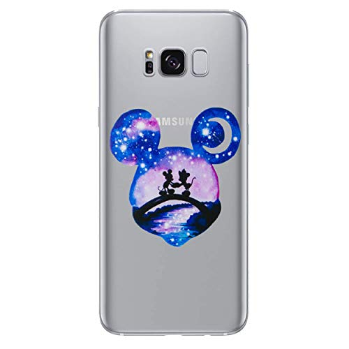 I-CHOOSE LIMITED Disney Acuarela Funda/Cubierta del Teléfono para Samsung Galaxy S7 (G930) con Protector de Pantalla/Gel/TPU/Mickey & Minnie