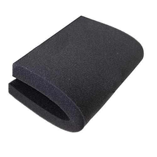 """AQUANEAT Bio Sponge Filter Media Pad Cut-to-fit Foam Up to 23"""" for Aquarium Fish Tank (23.6""""x17.7""""x2"""" Black (Fine))"""