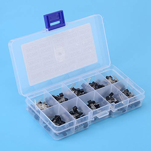 200pcs 10 Values NPN PNP TO-92 BC327-BC558 Transistor Assortment DIY Kit
