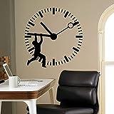 AGiuoo Reloj de Pared calcomanía Stop The Time Puerta Ventana Vinilo Pegatinas Dormitorio Estudio Oficina de Negocios Aula Interior creativos Decoración 77x78cm