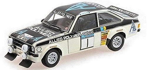 Minichamps Ma ab 1  18 975 rd Escort RS1800 lied Polymer Makinen Liddon Winner RAC Rally Auto (WeißSchwarz