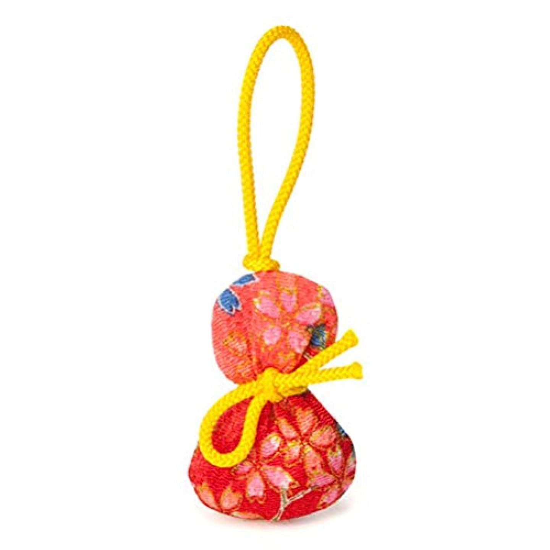 活気づくささやき付ける松栄堂 匂い袋 誰が袖 ふくべ 1個入 ケースなし (柄か無地をお選びください) (柄)