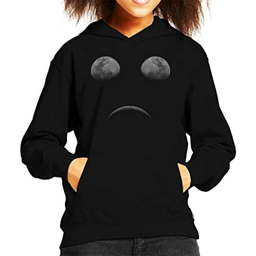 Cloud City 7 Moon Eclipse Sad Face Kid's Hooded Sweatshirt
